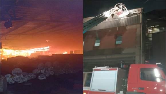નારોલ વિસ્તારમાં મોડી રાત્રે 1:10 કલાકે જીંદાલ વર્લ્ડવાઇડની કાપડ બનાવતી ફેક્ટરીમાં  લાગી ભયંકર આગ:  ૬ કલાક પછી આગ કાબૂમાં આવી