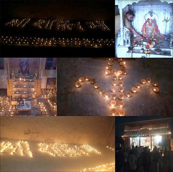 945 દીવડાની દીપમાળા બનાવી શ્રી શક્તિ માઁ ના જન્મ દિવસની ઉજવણી કરાઇ