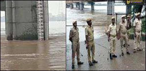 નર્મદા નદીની વધતી જળસપાટી : ભરૂચ અને અંકલેશ્વરમાં કાંઠાના  વિસ્તારોમાં પોલીસ બંદોબસ્ત ગોઠવાયો :કિનારે જવા પર પ્રતિબંધ