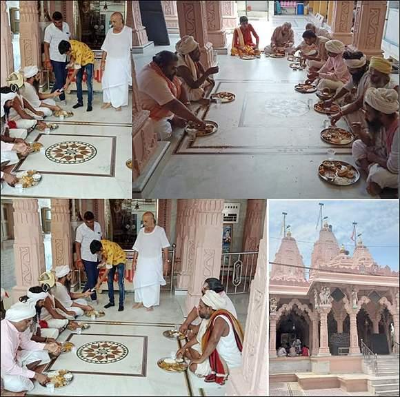 વિરમગામના રામ મહેલ મંદિર ખાતે પ.પુ. શ્રી જગદીશદાસ બાપુની પુણ્યતિથીની ઉજવણી કરાઇ