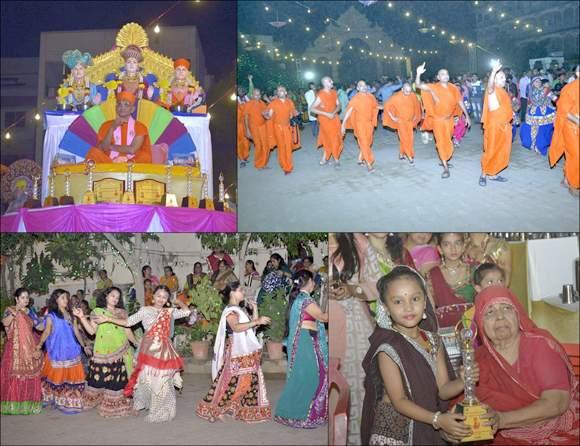 શ્રી સ્વામિનારાયણ મંદિર, મણિનગર, ભુજ, વાઘજીપુર, મોરડુંગરા, સ્વામિનારાયણ પાલ્લી વગેરમાં આનંદોલ્લાસપૂર્ણ શરદોત્સવ ઉજવાયો...