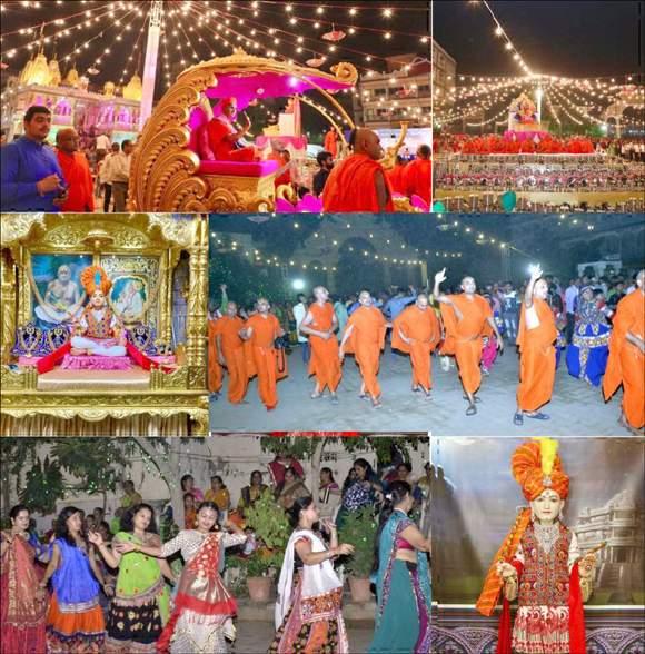 શ્રી સ્વામિનારાયણ મંદિર, મણિનગર, ભુજ, વાઘજીપુર, મોરડુંગરા, સ્વામિનારાયણ પાલ્લીમાં શરદોત્સવ ઉજવાયો