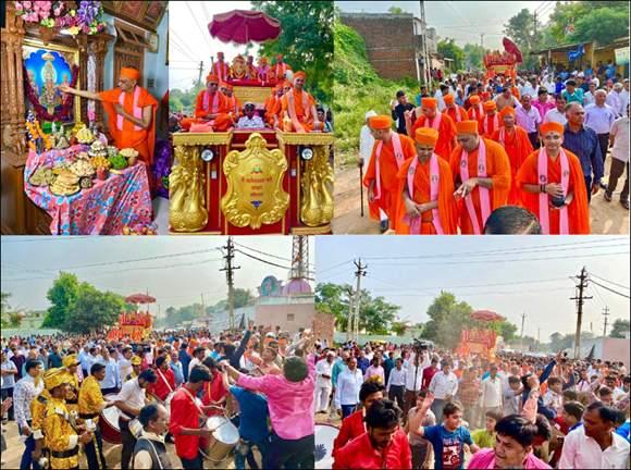 શ્રી સ્વામિનારાયણ મંદિર, ગવાડાનો દશાબ્દી મહોત્સવ અનેરા ઉલ્લાસથી ઉજવાયો