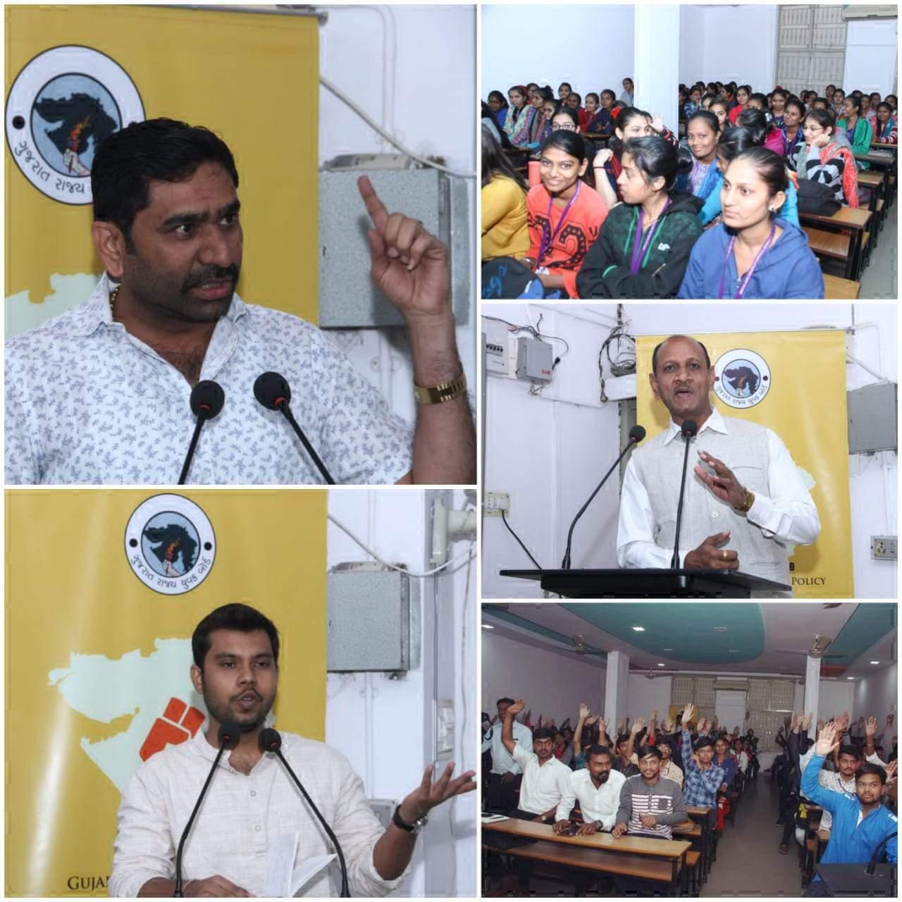 ગુજરાત રાજ્ય યુવક બોર્ડ- ગાંધીનગર અને મહેસાણા જિલ્લાના સંયુક્ત ઉપક્રમે યુવાનિતી અંગે યુવક- યુવતીઓનો વર્કશોપ યોજાયો