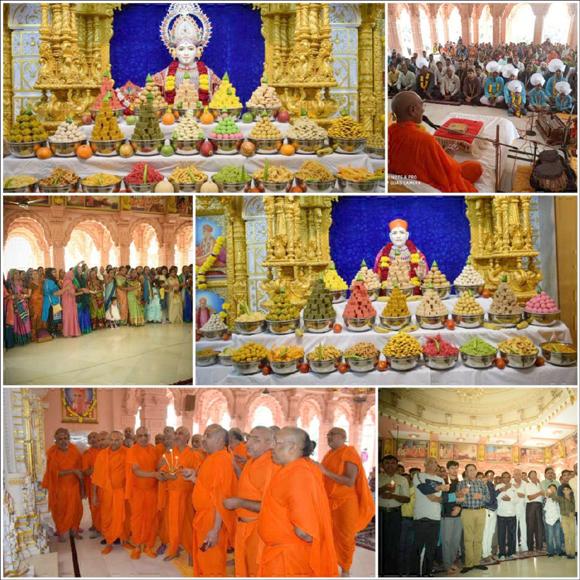 શ્રી સ્વામિનારાયણ મંદિર, સરથાણા-સુરતનો ૧૧ મો પાટોત્સવ ભક્તિભાવથી ઉજવાયો