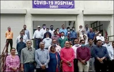 કોરોના વાયરસ સામે લડત : રાજ્યની પ્રથમ કોવિડ-19 હૉસ્પિટલ તૈયાર: સુરતમાં કોવિડ ICU ગુરુવારથી કાર્યરત