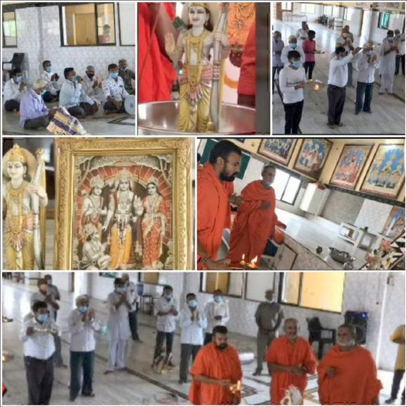 શ્રી સ્વામિનારાયણ ગુરુકુળ સોકલી ખાતે ભગવાન શ્રીરામની 5 કલાકની અખંડ ધૂન કરવામાં આવી