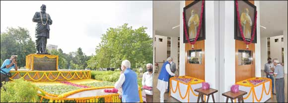 ગુજરાત વિધાનસભા ખાતે વિઠ્ઠલભાઇ પટેલની ૧૪૮મી જન્મજયંતિ નિમિતે પુષ્પાંજલિ અપાઇ