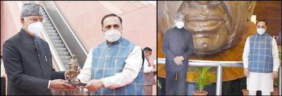 રાષ્ટ્રપતિ રામનાથ કોવિંદજી વિજયભાઇ રૂપાણી સાથે સ્ટેચયુ ઓફ યુનિટીની મુલાકાતે