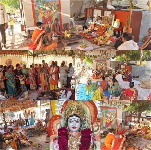 વિરમગામના ધરાવાળા આઈ શ્રી ખોડીયાર મંદિરના 21મા પાટોત્સવની ભવ્ય ઉજવણી કરાઈ