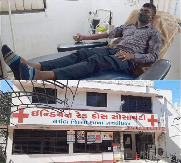 રાજપીપળા મિત ગ્રૂપના સભ્યએ એક બીમાર મહિલા દર્દીને લોહી આપી જીવતદાન આપ્યું