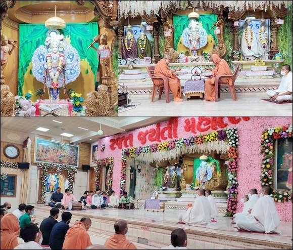બધા જ શાસ્ત્રોમાં ભગવાન શ્રી સ્વામિનારાયણે લખેલી શિક્ષાપત્રી અને ભગવાન શ્રી સ્વા્મિનારાયણના વચનામૃતો શિરમોડ છે:  શા. માધવપ્રિયદાસજીસ્વામી, મેમનગર ગુરુકુલ ખાતે ઘનશ્યામ મહારાજના રજતમહોત્સવ પ્રસંગે: ઉજવાયેલ વચનામૃત દ્વિશતાબ્દી મહોત્સવ: ૨૫ કલાકની અખંડ ધૂનની પૂર્ણાહૂતિ