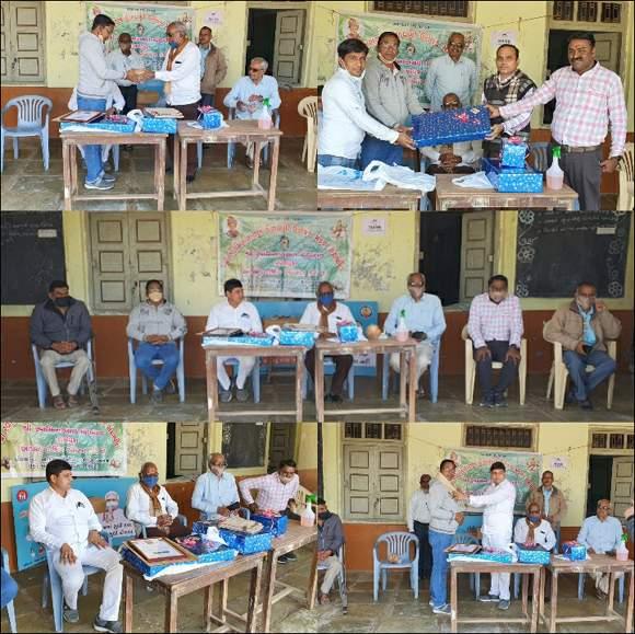 વિરમગામ તાલુકાના મણિપુરાની શ્રી સ્વામિનારાયણ વિદ્યાલયના શિક્ષકનો વિદાય સમારંભ યોજાયો