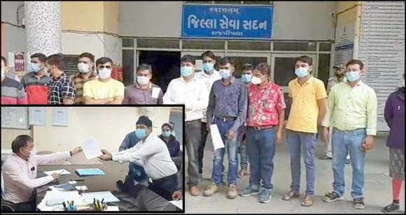 નર્મદા જિલ્લાના 350 જેવા આરોગ્ય કર્મચારીઓ ગુજરાત આરોગ્ય કર્મચારી મહામંડળની સૂચના મુજબ અચોક્કસ મુદ્દતની હડતાળ પર ઉતર્યા