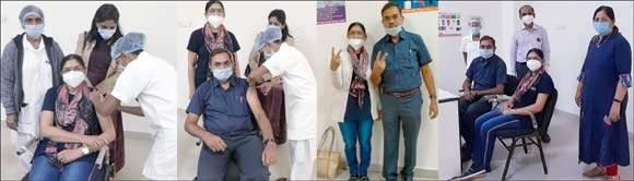 રાજપીપળાના જાણીતા ડોક્ટર દંપતીએ આજે કોરોના વેકસીન લઈ દેશમાંથી કોરોના નાબૂદ કરવા સંદેશ આપ્યો