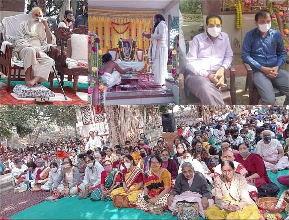 નાંદોદના માંગરોલ ખાતેના આશ્રમમાં સ્વામી રામાનંદજીની 721 મી જન્મ જયંતિ ખૂબ ધામધૂમથી ઉજવણી થઈ