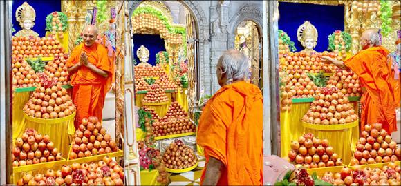 શ્રી સ્વામિનારાયણ મંદિર, મણિનગરે સોમવતી અમાસ - શ્રી સદ્ગુરૂ દિન પર્વે દાડમોત્સવ