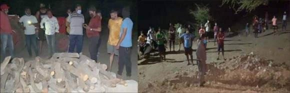 વલસાડ જિલ્લાના અતુલ નજીક નદીના કિનારે કોઈએ સ્મશાન બનાવી દેતા ગામમાં દોડધામ