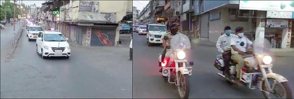 વલસાડ શહેરના વિવિધ વિસ્તારોમાં પોલીસ દ્વારા ફ્લેગ માર્ચ કરી પેટ્રોલિંગ હાથ ધરવામાં આવ્યું