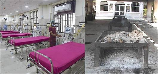 હોસ્પિટલોમાં લાઇનો ઘટી, સુરતમાં સ્મશાનો ખાલીખમ