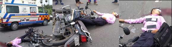 જુના રાજુવાડિયા ગામ પાસે અજાણ્યા વાહનની અડફ્ટ માં મોટરસાઇકલ પર જતાં શિક્ષક નું કમકમાટીભર્યું મોત
