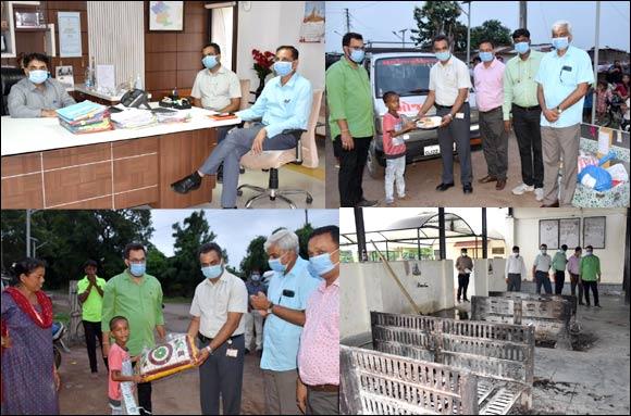 રાજપીપળા ખાતે UPL કંપનીના વડા ઋષિ પઠાણીયાએ જિલ્લા કલેક્ટર શાહની મુલાકાત લઇ સ્મશાન ગૃહની કામગીરી નિહાળી