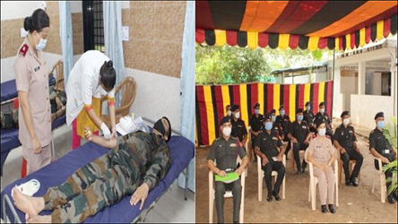 'હર કામ દેશ કે નામ' ભારતીય સેના દ્રારા સૈન્ય હોસ્પિટલ વડોદરા ખાતે રકતદાન શિબિરનું આયોજન કરાયુ