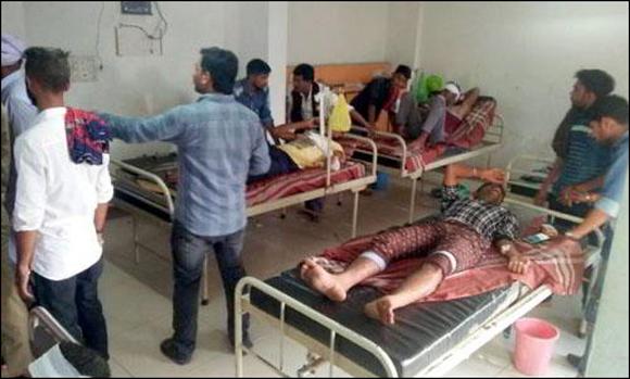 સામીના નાયકા ગામે મૂછે તાવ દેવા મામલે બે જૂથ વચ્ચે જૂથ અથડામણ:11 લોકોને ઘવાયા:એક ગંભીર