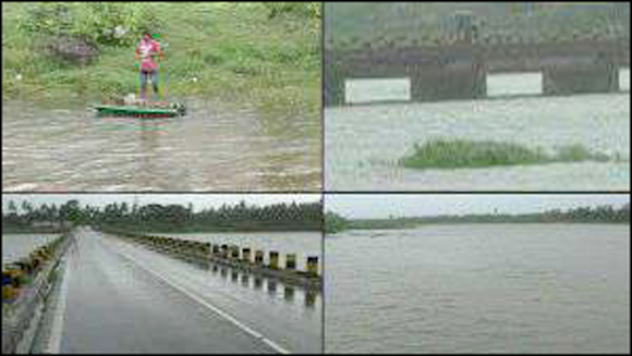 નવસારી જિલ્લામાં ભારે વરસાદથી અંબિકા, કાવેરી અને પૂર્ણા નદીની જળ સપાટી વધવાની શક્યતા: ગણદેવીના 26 ગામોને એલર્ટ