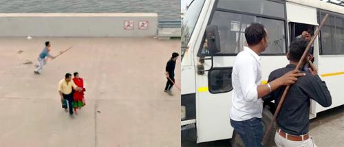 અમદાવાદ રિવરફ્રંટ પર બજરંગ દળના કાર્યકરોએ કર્યો હંગામો : છોકરા-છોકરીયો પાછળ લાકડી લઈને દોડ્યા : પોલીસે કરી 10 લોકોની અટકાયત