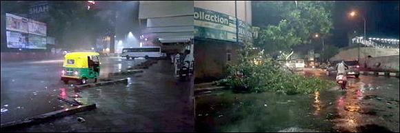 સુરતમાં પ્રથમ વરસાદે જ ૩ વ્યકિતના ભોગ લીધોઃ ૧૦૦થી વધુ વૃક્ષો ધરાશાયીઃ વિજ થાંભલા પડી જતા અનેક જગ્યાઅે વિજળી ગુલ