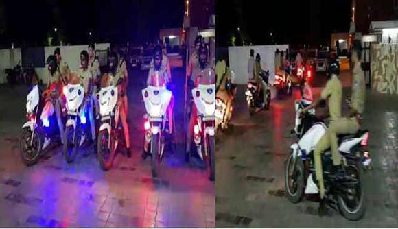 વડોદરાના અતિ સંવેદનશીલ વિસ્તારોમાં પોલીસની બે ટીમો દ્વારા સુપરકોપ બાઈક પેટ્રોલિંગ શરુ