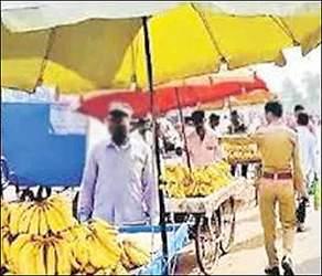 ગાંધીનગરમાં લારી-ગલ્લાના દબાણ હટાવવા કોર્પોરેશન દ્વારા ઝુંબેશ હાથ ધરવામાં આવી: પોલીસની લાલ આંખ