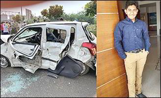 અમદાવાદ : રાજપથ કલબ પાસે કારની અડફેટે AGLના ડાયરેકટર કાળીદાસભાઇ પટેલના પુત્ર ઋત્વિકનું કરૂણ મોત