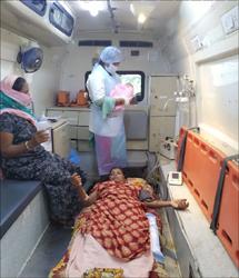 નર્મદા Gvk emri 108 એમ્બ્યુલસના ઈ.એમ.ટી દ્વારા એમ્બુલન્સ માં સફળ પ્રસુતિ કરાવાઈ