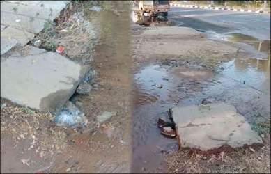 ગાંધીનગરમાં ગ-2 સર્કલ નજીક પાણીની પાઈપલાઈન લીકેજ થતા પાણીનો જથ્થો વેડફાયો:લોકોને અવરજવર કરવામાં હાલાકી